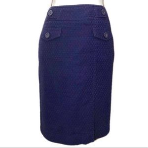 Ann Taylor Purple Pencil Skirt